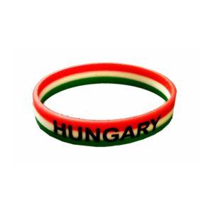 Hungary  piros, fehér és zöld színű silikon karkötő