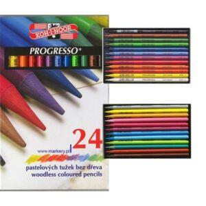 KOH-I-NOOR Progresso famentes színes ceruza készlet 24db-os 8758