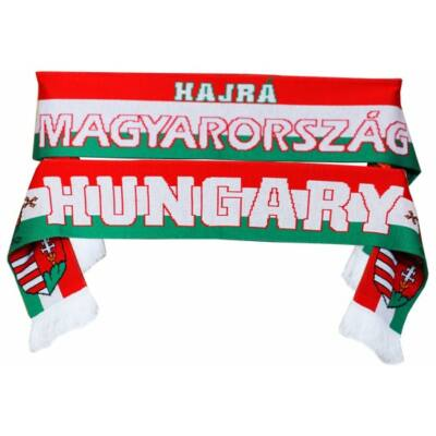 Hajrá Magyarország + Hungary nagy kötött sál