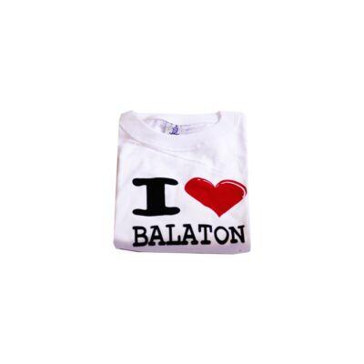 I Love Balaton fehér gyerek póló