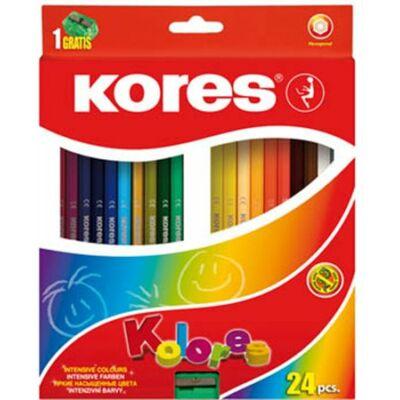 Kores Hexagonal hatszögletű színes ceruza készlet 24db-os