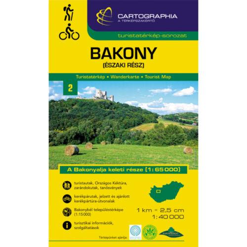 Bakony (északi rész) turistatérkép