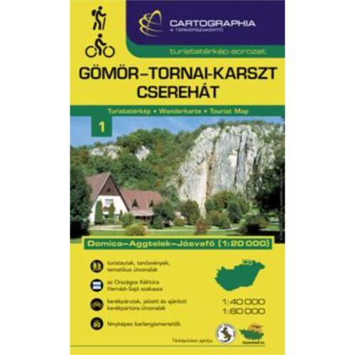 Gömör-Tornai-karszt és Cserehát turistatérkép